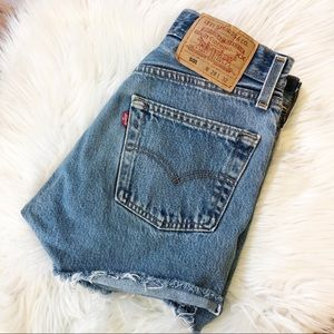 Vintage Levi's 501 High Waisted Cut Off Shorts